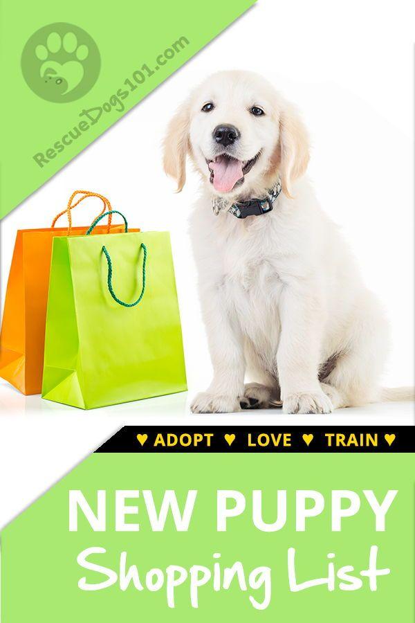 New Puppy Shopping List New Puppy Puppy List Rescue Puppies