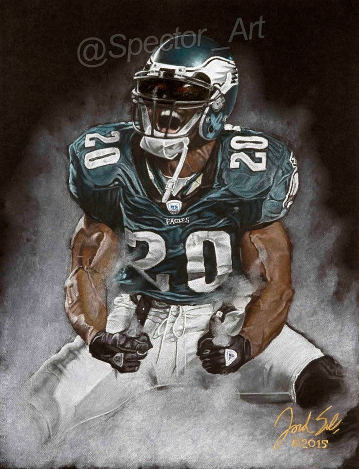 Illustration Brian Dawkins Philadelphia Eagles by SpectorArt on Etsy