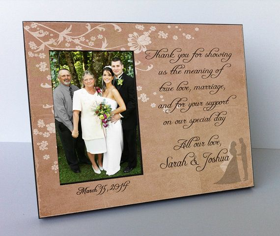 Personalized Wedding Picture Frames For Parents : Parents Wedding Gift, Parents of the Groom, Parents of the Bride ...