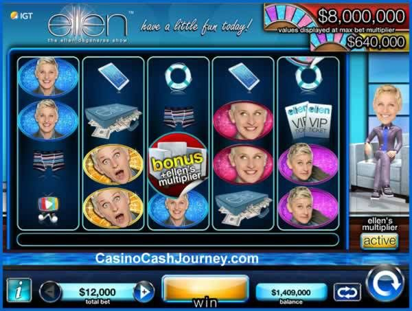The The Ellen DeGeneres Show - Have a Little Fun Today slot by IGT, has been released at Double Down Casino. The new slot features 5-reels and 70-paylines. Read more at http://www.casinocashjourney.com/blog/ellen-degeneres-slot-double-down/