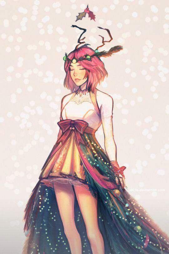 Sakura Uchiha ❤️ Beautiful Christmas Fanart ❤️❤️❤️