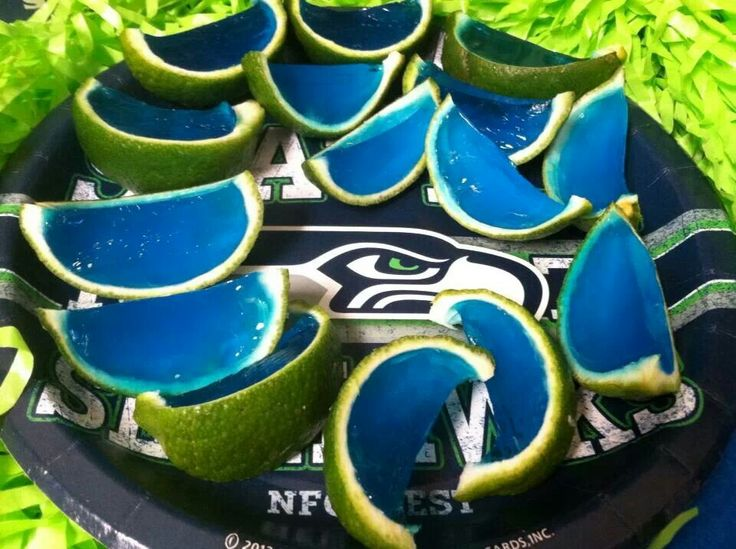 Hawk shots! Limes & blue jello