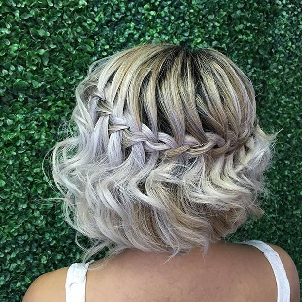 Waterfall Braid for Short Hair (Bob)