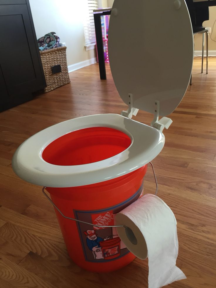 Out Last Minute The Camping Cabin Did Not Have Indoor Plumbing I Made A Dash For Homedepot And Put Few Items Together 500 Toilet Seat 300 Bucket