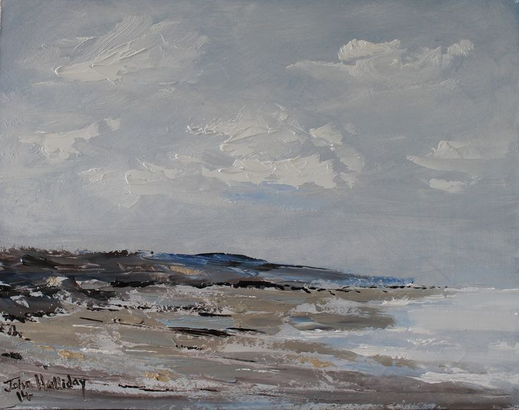 Shoreline, oil paint on board 21 x 15 in, more available at artfinder.com/john-halliday