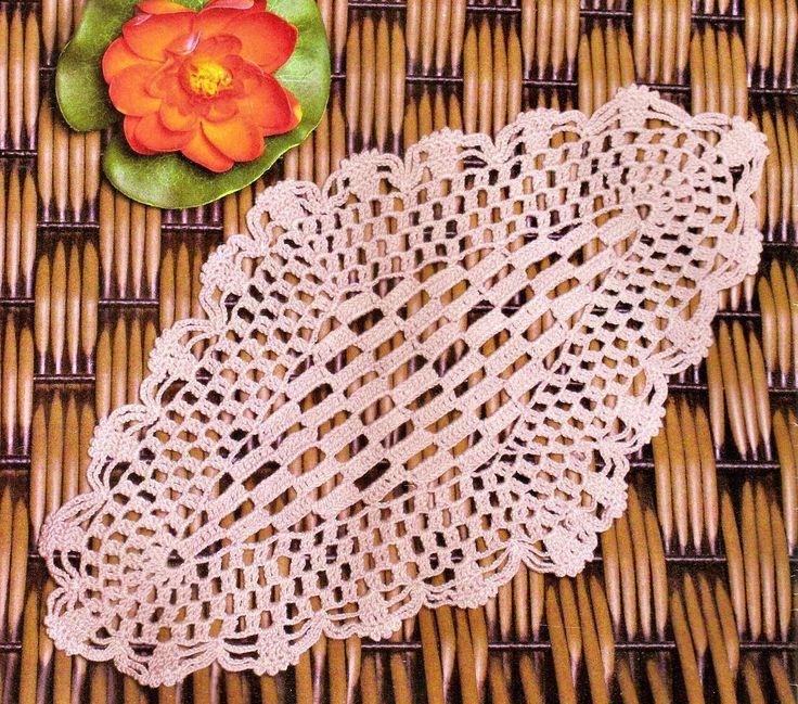 ovalada exotica toallita crochet en crochet con los ingresos