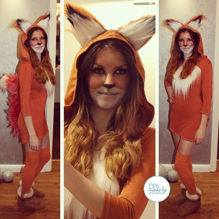 #diy #carnival #costume #fuchs #fox #ears #dress #makeup #foxmakeup #fasching diy made by carolin weiland