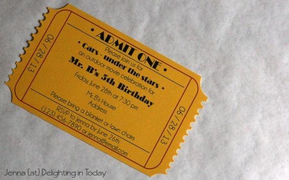 Movie Ticket Invitation | Maker Crate