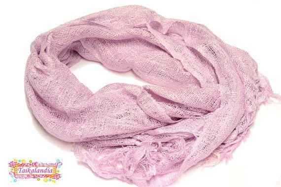 Light Lilac Linen and Cotton Scarf, Linen Scarf, Lilac Scarf, Light Lilac linen-cotton Scarf, Men Scarf, Boho Scarf, Boho Style