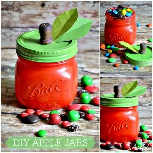 Fun gift idea for teachers! DIY Apple Jar Tutorial | The 36th AVENUE
