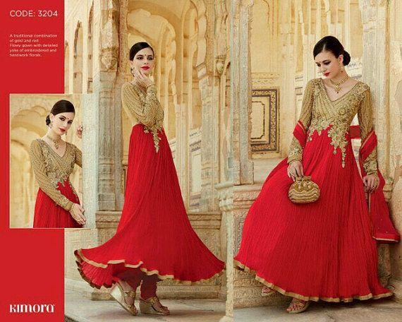 Readymade largo Anarkali traje talla 42-44 pulgadas | Vestido indio |  Desgaste del partido | Ropa casual | Salwar Kameez | desgaste de la boda | Juego paquistaní |