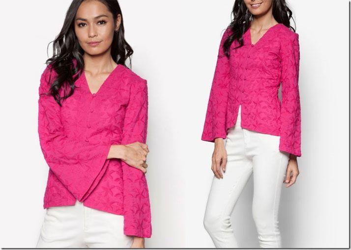 Short Embroidered Kebaya Tops For Raya 2016 / fuchsia-pink-kebaya-top
