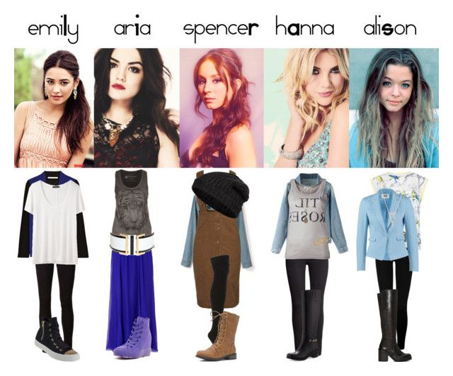"""""""Mix 77: Pretty Little Liars S5E6 inspired"""" by hermioneyouarewelcome ❤ liked on Polyvore featuring True Religion, Ted Baker, Vero Moda, H&M, Ann Demeulemeester, Salvatore Ferragamo, Lucky Brand, Jeffrey Campbell, Gemma Crus and Maria Black"""