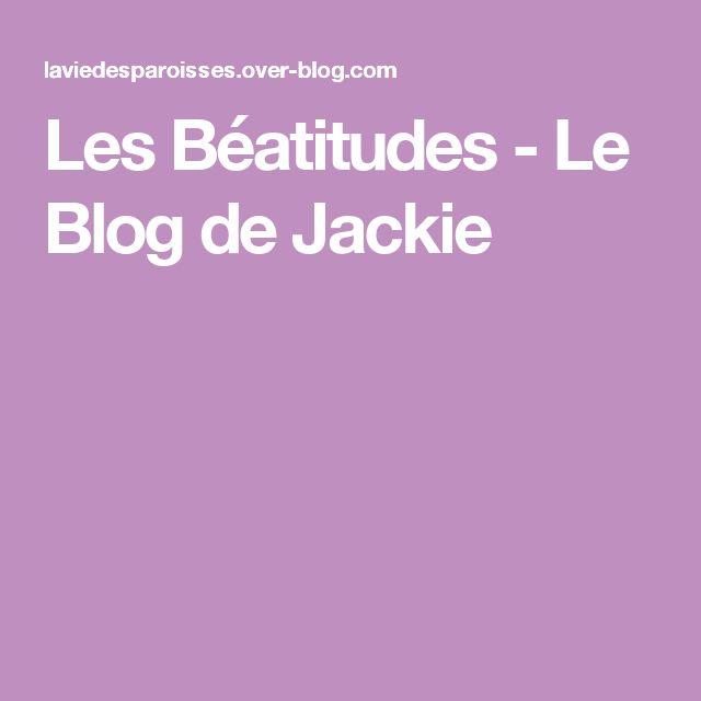 Les Béatitudes - Le Blog de Jackie
