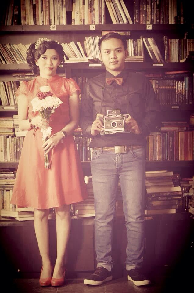 Vintage Concept Photo  #photography #prawedding #vintage #moment #library