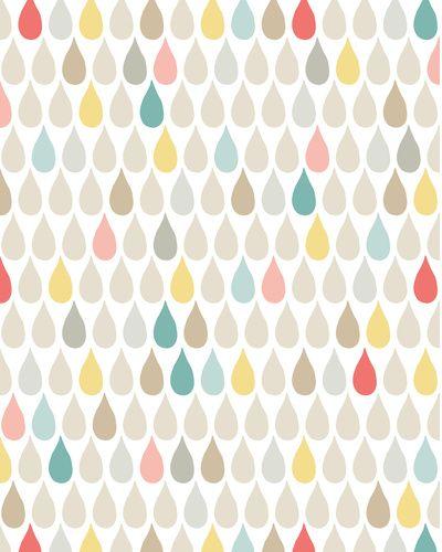 AliX&AleX pataugent sous la pluie. #décoration #illustration #gouttes #couleur
