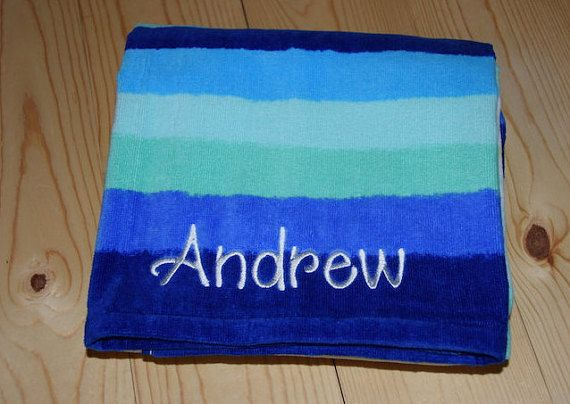 Custom beach towels for the kids.  No more fighting https://www.etsy.com/listing/268785864/kids-personalized-beach-towel-custom
