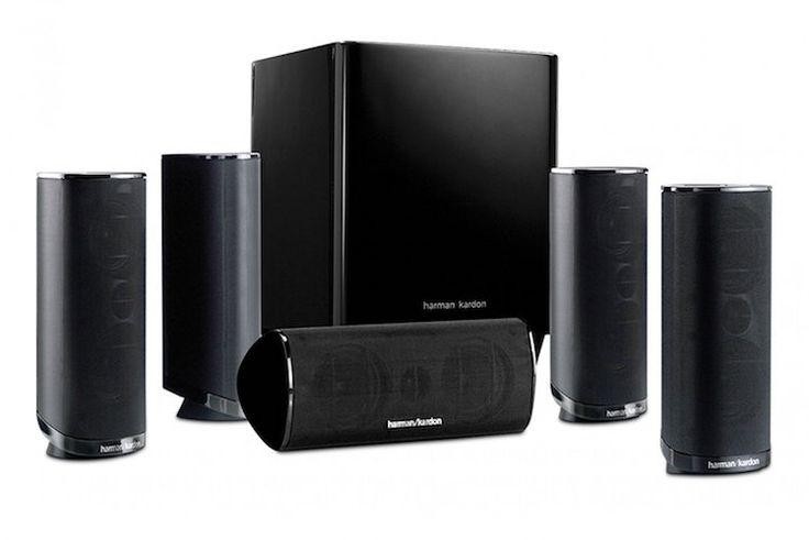 8. Harman Kardon HKTS 16BQ 5.1 Channel Home Theater Speaker Package (Black)
