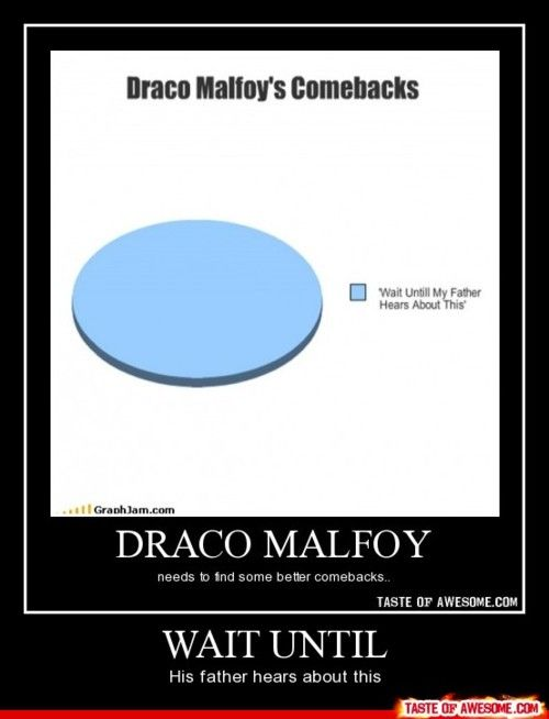 To be fair, Draco's father is rather scary.