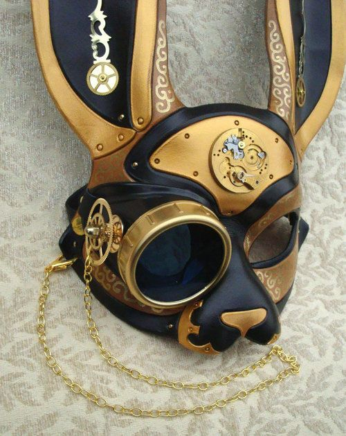 rikkysworld:  Clockpunk and Steampunk rabbit masks by merimask...