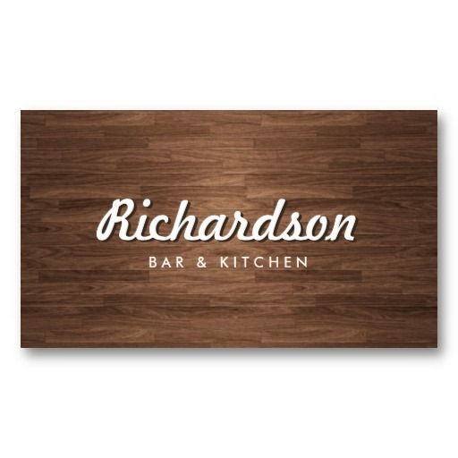 119 best a catering kit images on pinterest business card design rustic woodgrain business card template great for restaurant bar cafe boutiques cheaphphosting Image collections