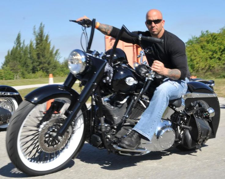 Image result for bald harley motorcyclist