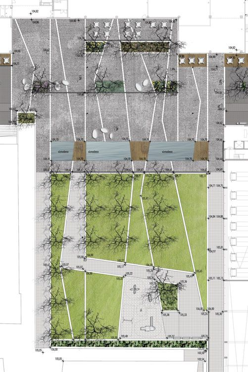 #landarch #urbandesign Újbuda City Centre by Garten Studio « Landezin