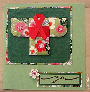 "Tuto ""washi paper quilting"" - Les Cartes d'Isabelle  www.HankoDesigns.com"