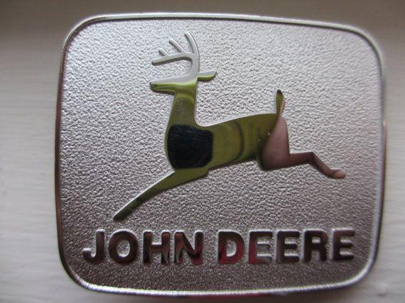 Vintage John Deere Belt Buckle / Deer