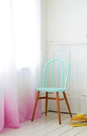 gedipte stoel