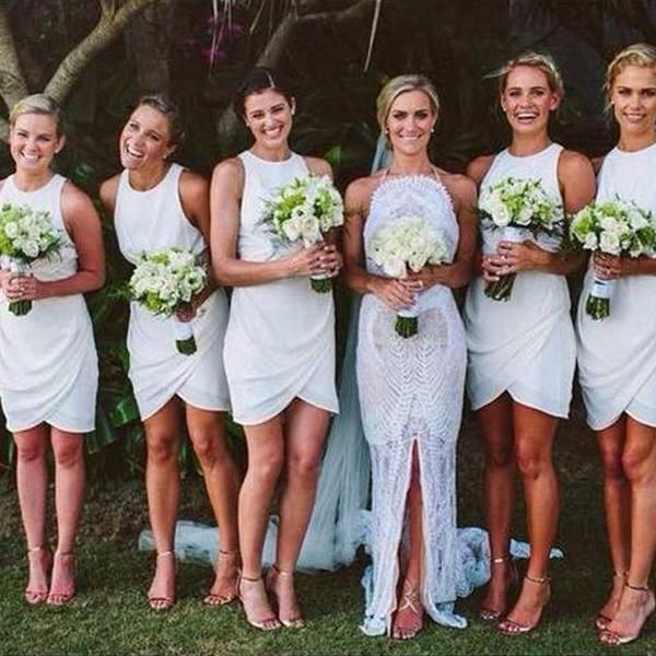 17 Best ideas about White Bridesmaid Dresses on Pinterest | Modern ...