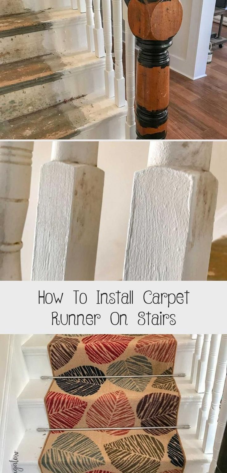 DIY Tutorial on how to install carpet runner on stairs and