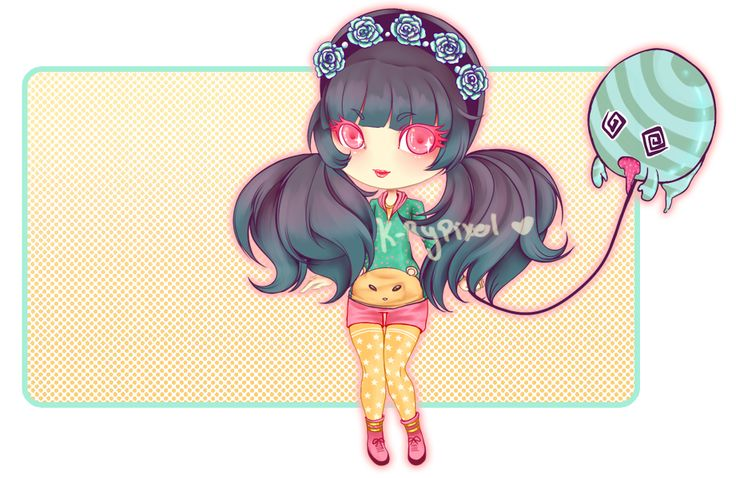 [Adoptable] Girl and Ghost Pet - Auction [OPEN] by k-rypixel.deviantart.com on @deviantART