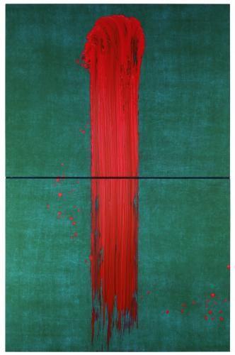 Fabienne Verdier ~ L'Un, 2012 (pigments and ink on canvas)