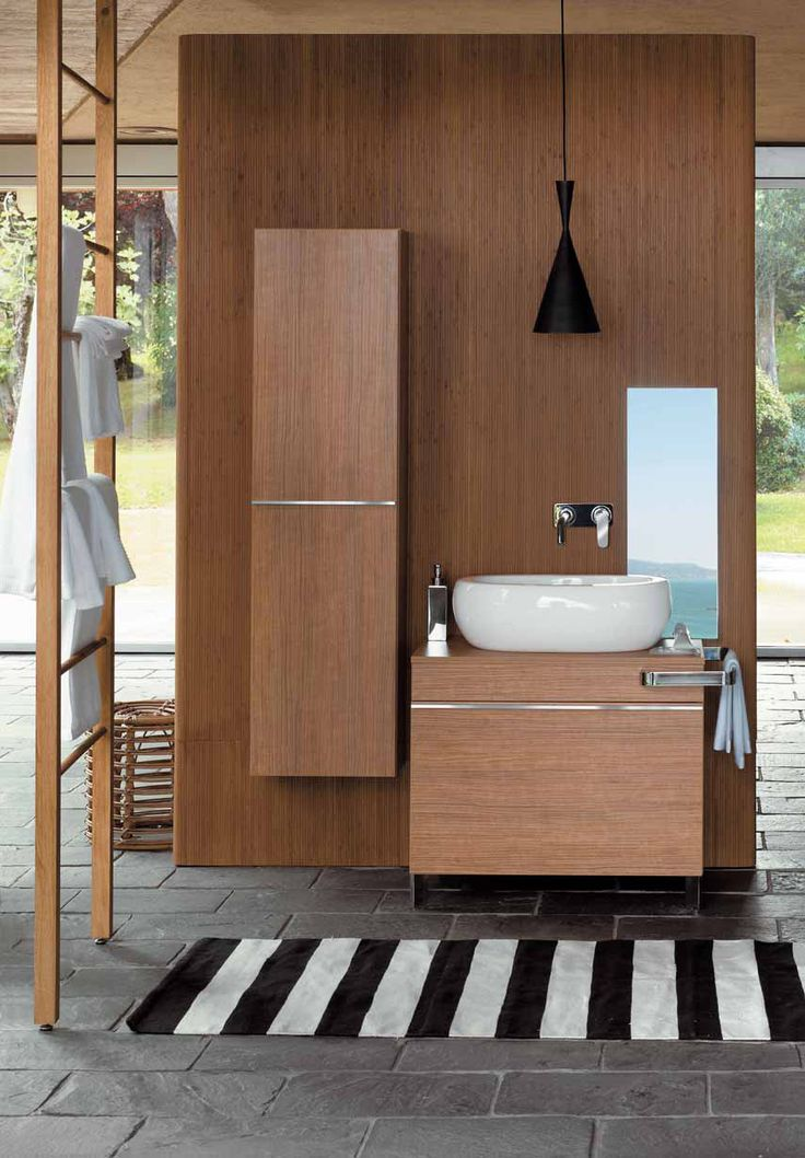 Bathroom Cabinets   Wooden Bathroom Cabinets And Oval Sanitary Ceramics U2013  Egg By Pozzi .
