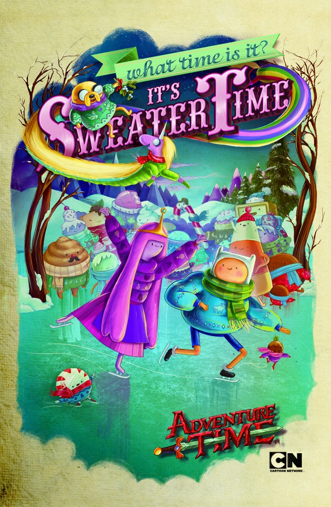 """""""It's Sweater Time"""" Cartoon Network's 2011 holiday poster."""