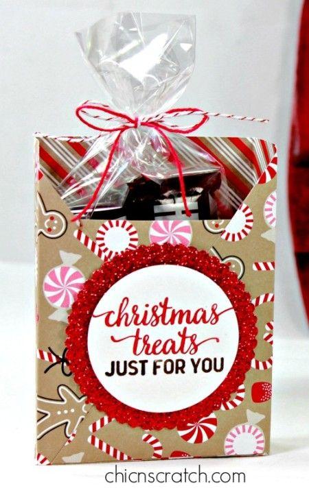 25 unique christmas treat bags ideas on pinterest christmas goody bags christmas gift bags. Black Bedroom Furniture Sets. Home Design Ideas