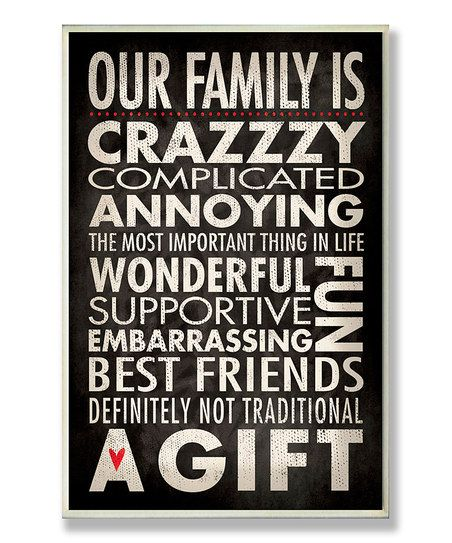 'Our Family' Wall Plaque