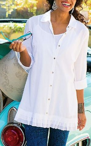 Like the length and you can do a lot with a white button down.