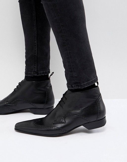 4c999d17f532d7 Jeffery West Escobar brogue boots in black | My Plumage | Shoes ...