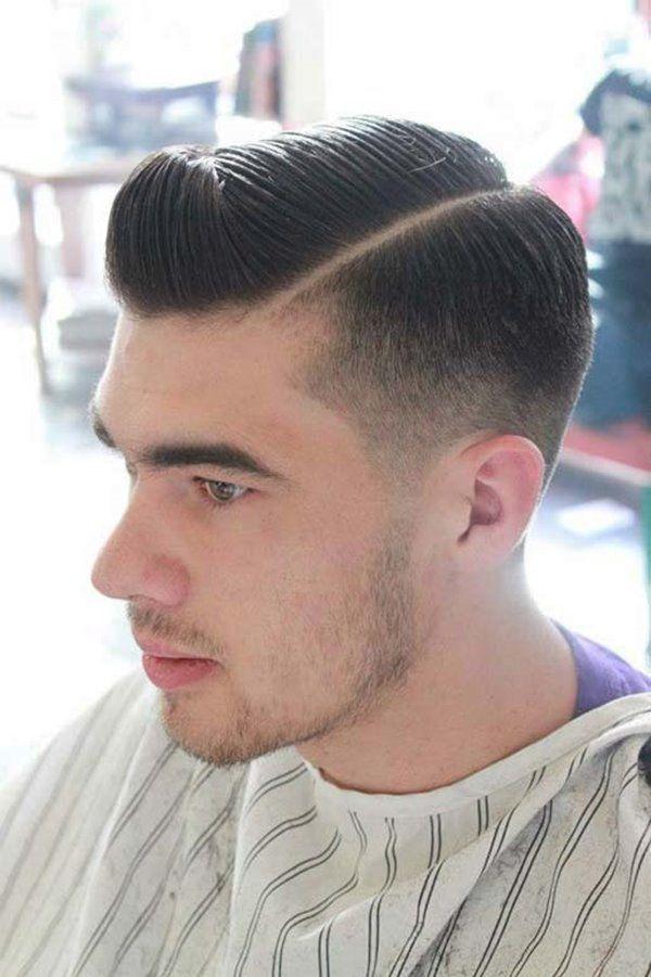 Corte de cabello con partido hacia un lado para hombres - Nuevos peinados hombre ...