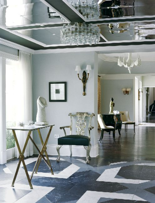 Best Kelly Wearstler Interior Design Images On Pinterest - Ceiling mirrors trend that becomes actual again