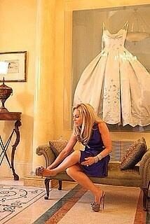 Frame your wedding dress after the wedding and hang it in your closet