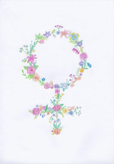 Feminist flower Art Print by Mikaela Puranen