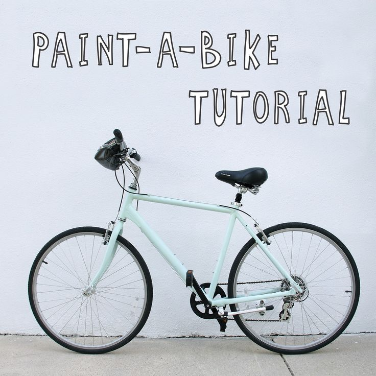 Give your bicycle a fresh paint job! It's not as  tricky as you think!