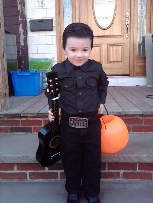 johnny cash costume... wish I had a little boy to dress up like this for halloween