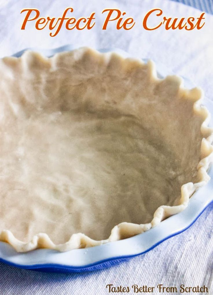 Grandma's Prize Winning Pie Crust is so EASY--Perfect buttery flavor and texture. The BEST easy pie crust recipe!