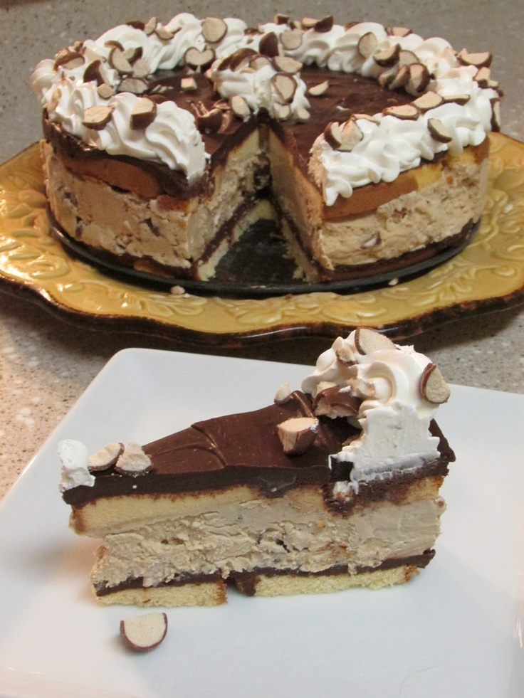 Frozen Cappuccino Crunch Cake--Baker Betty  My husband and I could tear this cake up!  Yummy!!