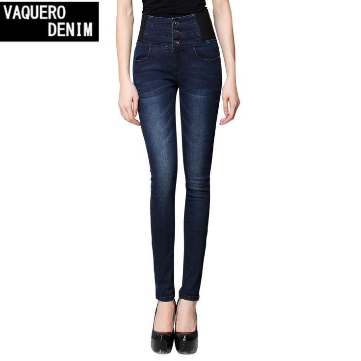 High Waist Jeans Women 2015 Hot Sale American Apparel Skinny Pencil Denim Pants Fashion Pantalones Vaqueros Mujer Plus Sizeg162