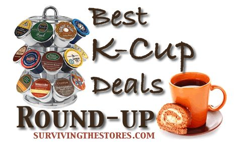 This week's HUGE round-up of the best prices on K-Cups from around the web! You can get organic k-cups for as low as 35¢/cup shipped!